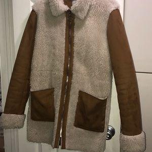 Asos TALL FAUX SHERLING COAT